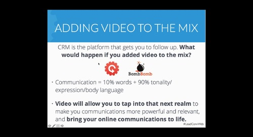 The Secret to Lead Conversion Success: Using CRM + Video to Dominate Your Sales (with BombBomb)