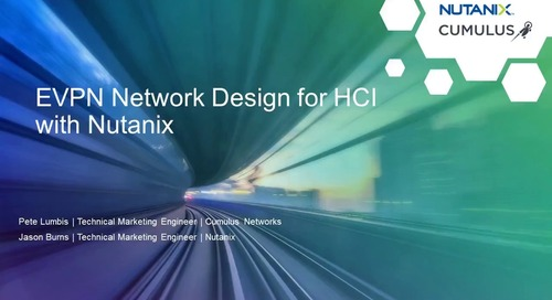 Webinar: EVPN Network design for HCI with Nutanix