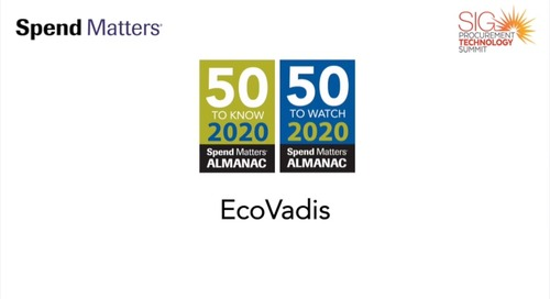 Spend Matters 2020 Provider to Know: EcoVadis