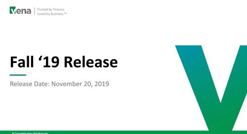 Learn What's New in the Fall '19 Release