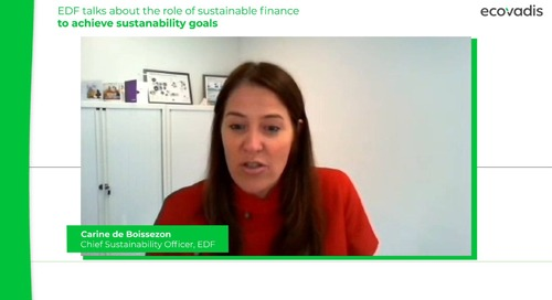 EDF Talks About the Role of Sustainable Finance To Achieve Sustanability Goals