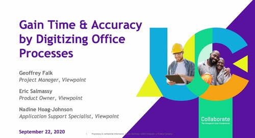 Gain Time & Accuracy by Digitizing Office Processes in Spectrum