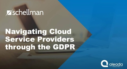 Cloud Service Providers Navigating through the GDPR