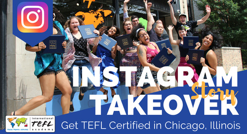 Day in the Life with Krystle Cotten in Our Chicago, USA TEFL Class