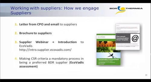 BDR Thermea: Deploying supplier CSR monitoring across a global purchasing organization
