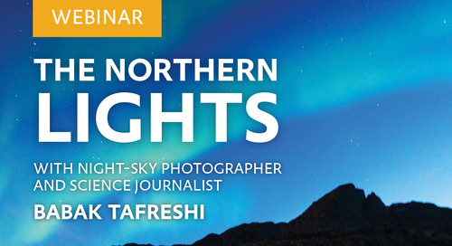 Webinar: The Northern Lights with night-sky photographer and science journalist Babak Tafreshi