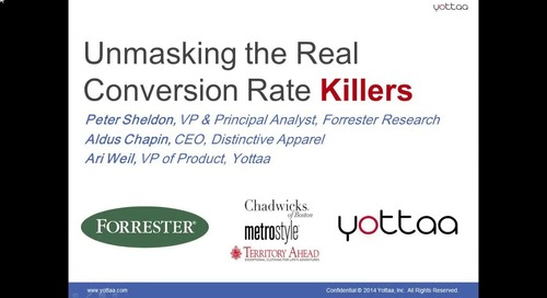 Webinar: Unmasking Conversion Killers With Peter Sheldon of Forrester Research (Recording)