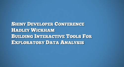 Building interactive tools for exploratory data analysis - Hadley Wickham