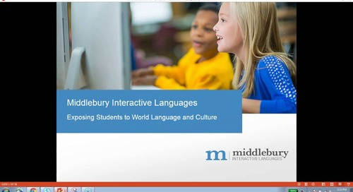 "Webinar: World Language Exposure: Exercise for ""Spongey"" Brains"