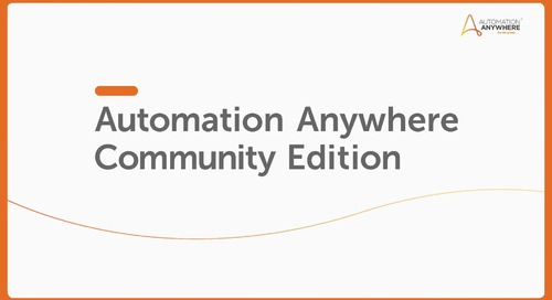 IQ Bot How To - A2019 Community Edition with IQ Bot Upload/Download Taskbot Creation