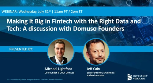 On-Demand Webinar: Making it Big in Fintech with the Right Data and Tech: A Discussion with Domuso Founders