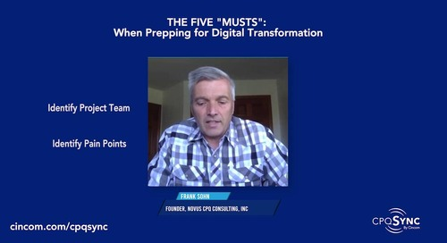 """Five """"Musts"""" for Digital Transformation"""