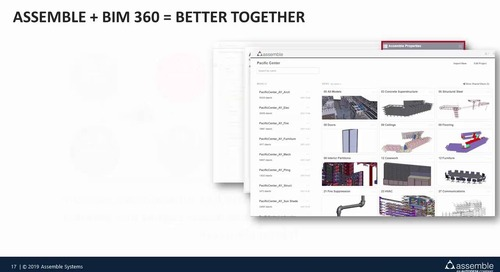Webinar: The Power of Assemble Systems and BIM 360 Integration