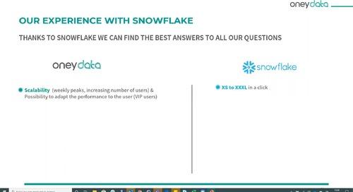 Webinar - Perchè Oneydata ha scelto Snowflake come Data Platform