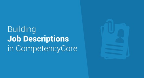 Building Job Descriptions in CompetencyCore