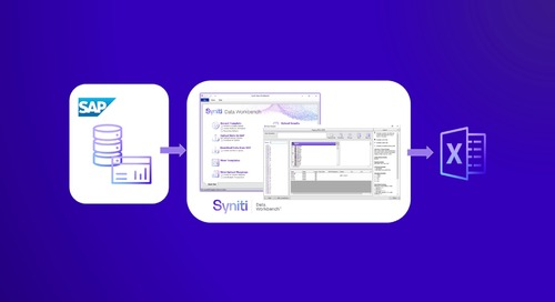 Syniti Data Workbench Download Demo