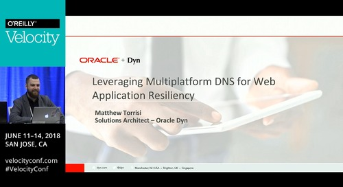 Tutorial - Part 1 - Leveraging Multiplatform DNS for Web Application Resiliency