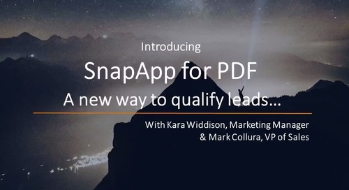 SnapApp's Latest Product Release: Introducing SnapApp for PDF!