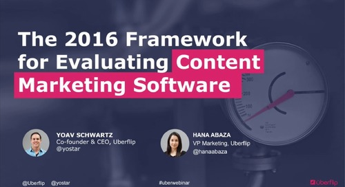 The 2016 Framework for Evaluating Content Marketing Software