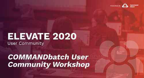 COMMANDbatch User Community Workshop