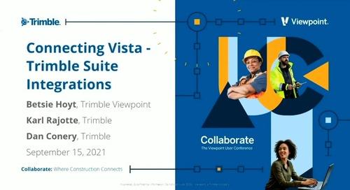 Vista - Connecting Vista: Trimble Suite Integrations