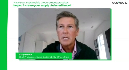 Wie haben Ihre nachhaltigen Beschaffungspraktiken dazu beigetragen, die Widerstandsfähigkeit der Lieferkette zu erhöhen?