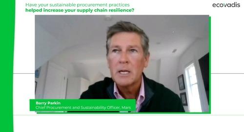 Comment vos pratiques achats responsables ont-elles contribué à accroître la résilience de la chaîne d'approvisionnement ?