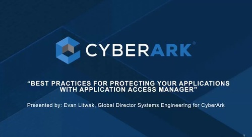Best Practices for CyberArk Application Access Manager