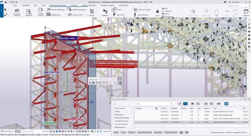 Tekla Structures 2020 - Show and modify drawing views in the model