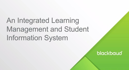 An Integrated Learning Management and Student Information System