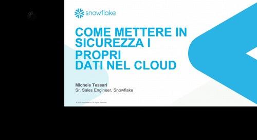 Come mettere in sicurezza i propri dati nel cloud