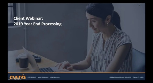 2019 Year End Processing Webinar