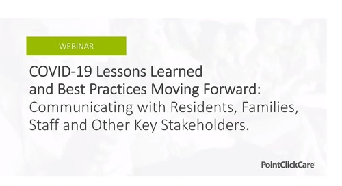Webinar: COVID-19 Lessons Learned & Best Practices Moving Forward with Mission Point Healthcare Services