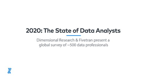 2020: The State of Data Analysts Global Survey