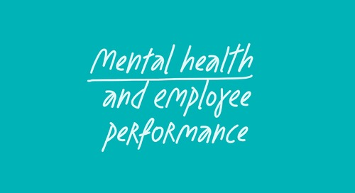 What's the real impact of employee mental health on performance?