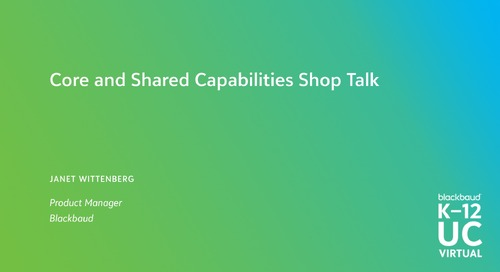Core and Shared Capabilities Shop Talk