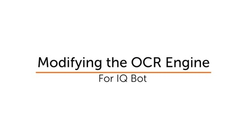 IQ Bot How To - OCR engine toggle