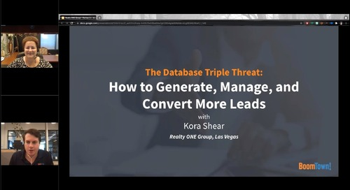 Database Triple Threat: How to generate, manage, and convert more leads.