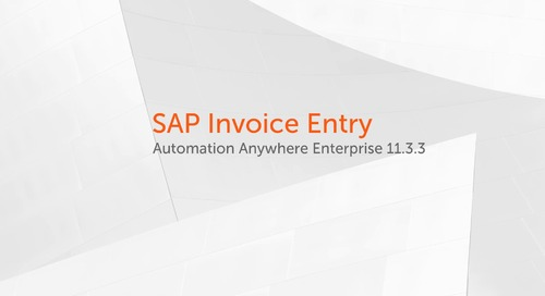 Enterprise 11.x Use Cases - SAP Invoice Entry