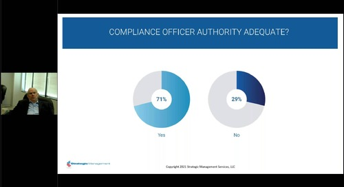 Current State of Healthcare Compliance Programs: 2021 Benchmark Survey Results
