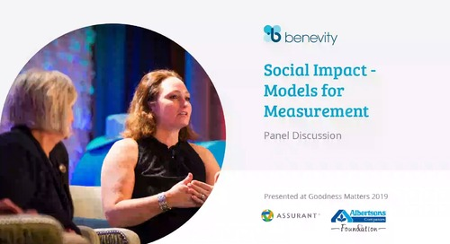 Panel - Social Impact - Models for Measurement