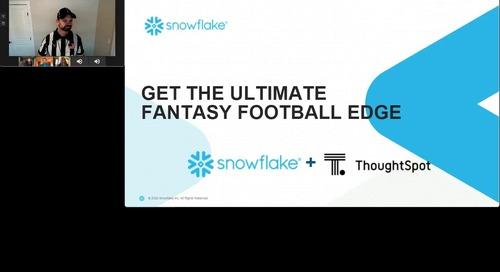 Get The Ultimate Fantasy Football Edge with ThoughtSpot and Snowflake