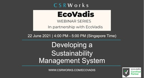[CSRWorks] Developing a Sustainability Management System