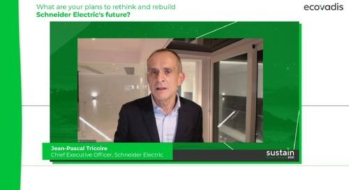 Quels sont vos projets pour repenser et reconstruire l'avenir de Schneider Electric ?