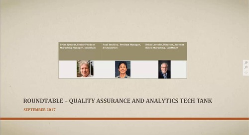 Roundtable on Quality Assurance and Analytics