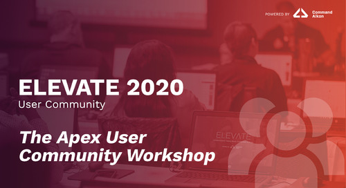 Apex User Community Workshop | ELEVATE 2020