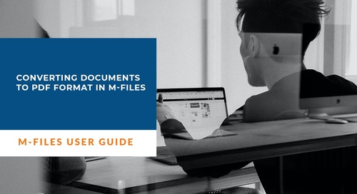 Converting documents to PDF format in M-Files
