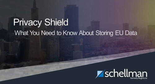 Privacy Shield - What You Need to Know About Storing EU Data