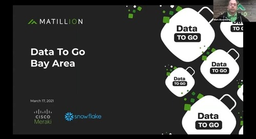 Webinar - Data To Go [Bay Area]