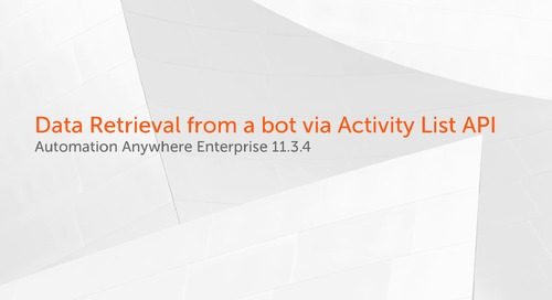 Enterprise 11.x Features - Data Retrieval from a Bot via the Activity List API
